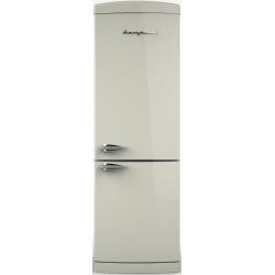 Combina frigorifica Retro Bompani BOCB669/D, Clasa A+, 316 litri, Latime 60 cm, Argintiu