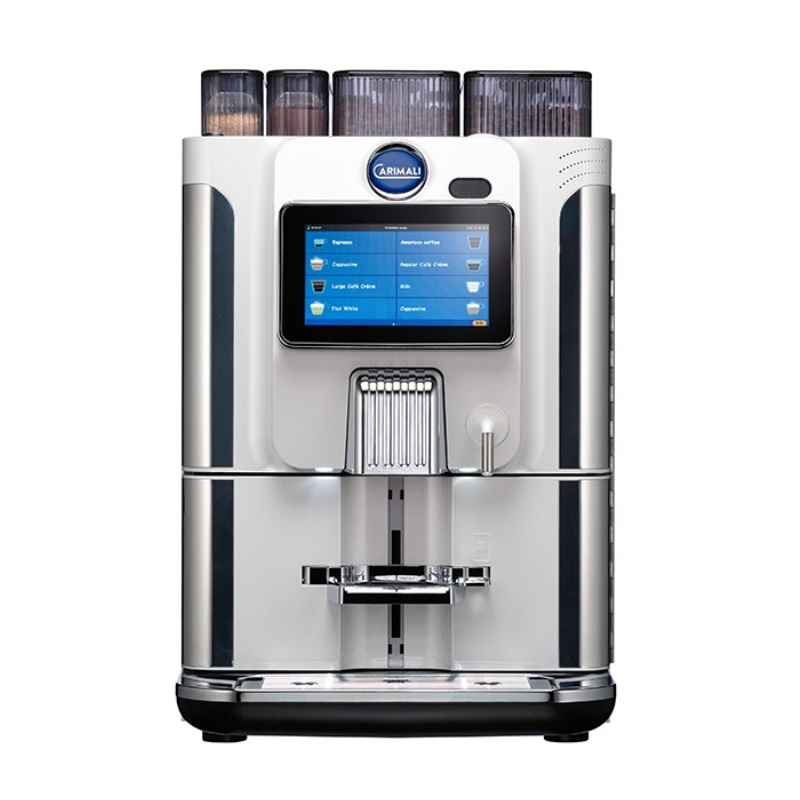 Automat de cafea Carimali BlueDot Plus.5 display 7K 1 rasnita rezervor apa alb perlat