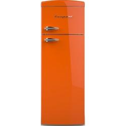 Frigider cu 2 usi Retro Bompani BODP281/A, Clasa A+, 315 litri, Latime 60 cm, Portocaliu