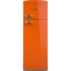 Frigider cu 2 usi Retro Bompani, Clasa A+, 315 litri, Latime 60 cm, Albastru
