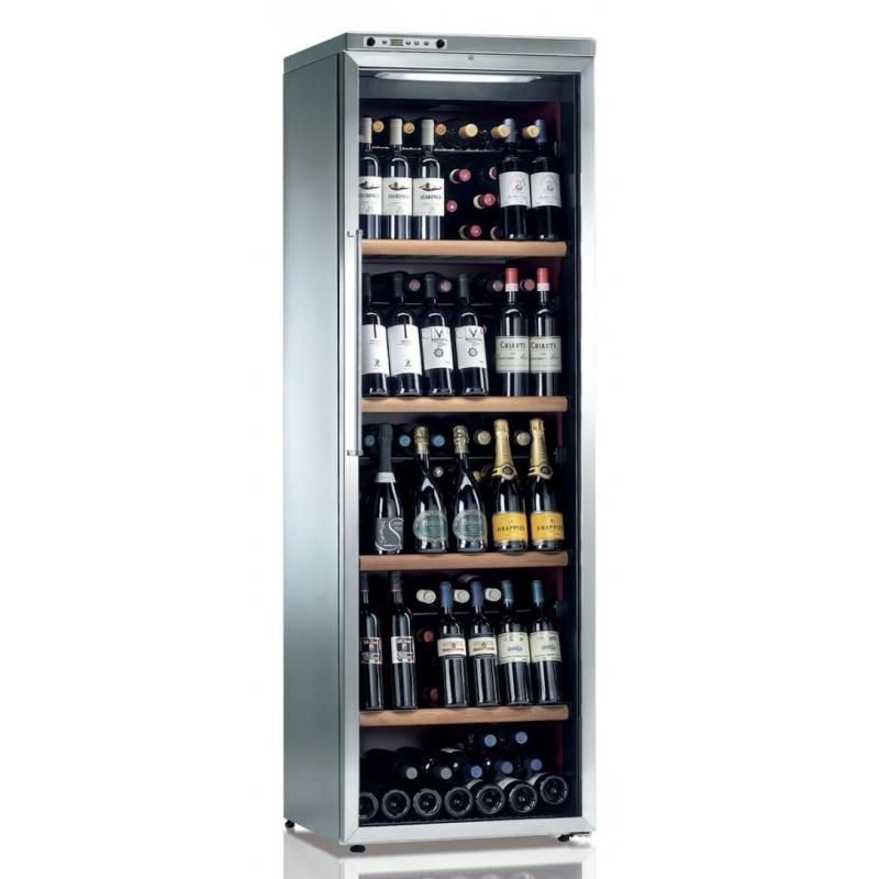 Vitrina frigorifica vinuri Ipindustrie CK501X pentru 138 sticle, temperatura +4/+18°C, inox