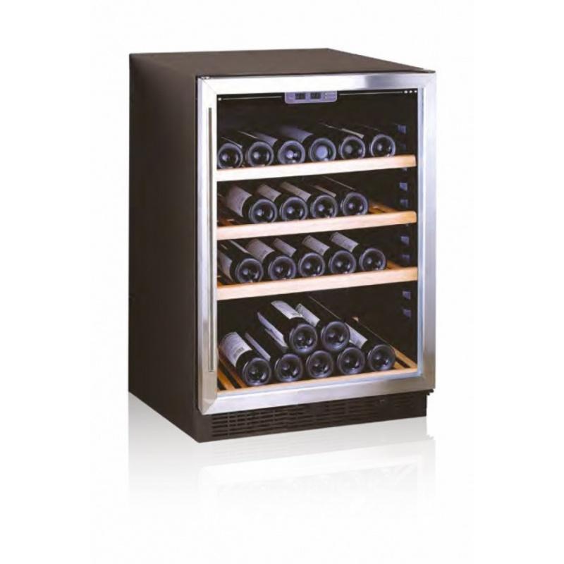 Vitrina frigorifica incorporabila vinuri Ipindustrie JG45AX(A) pentru 45 sticle, temperatura +5/+18°C, inox