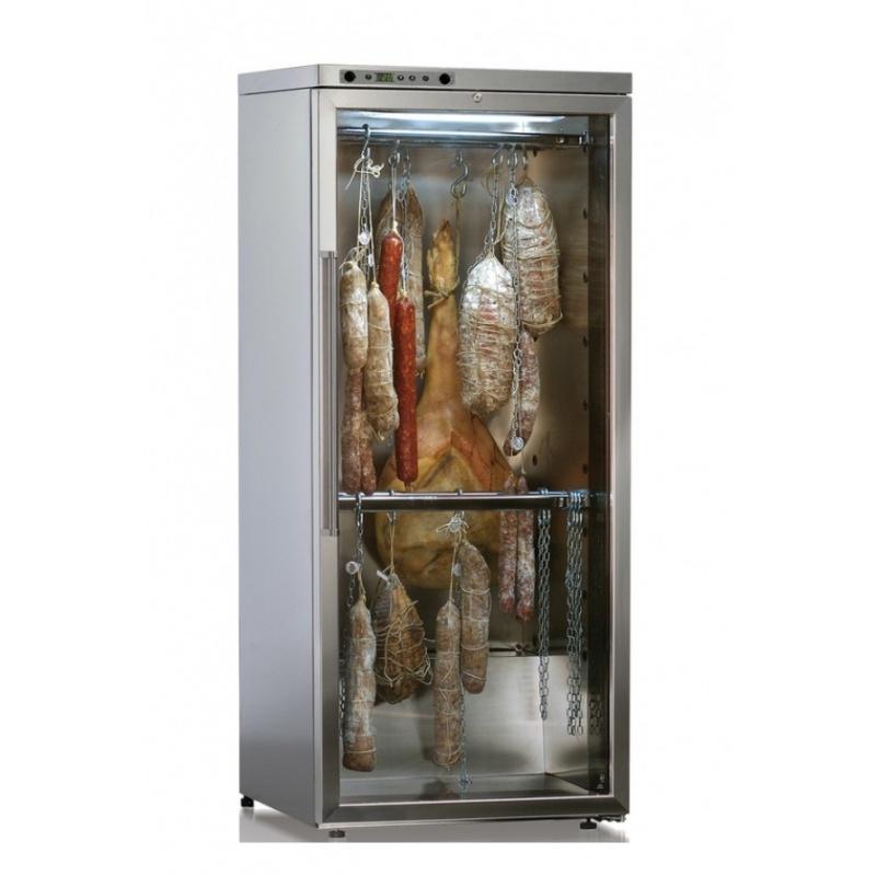 Vitrina frigorifica salumi Ip Industrie Delicatessen SALK 301 X, capacitate 80 kg, temperatura +4 /+18°C, argintiu