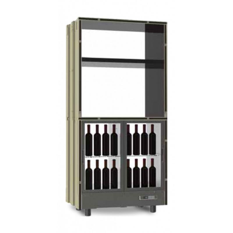 Modul frigorific central Ip Industrie Parete Vino PC-VAR23, pentru vin, capacitate sticle 64, temperatura +6°C° / +18°C