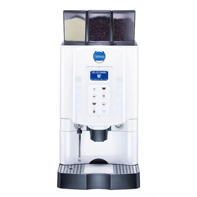 Automat de cafea Carimali Armonia Soft Easy.4 display 3K 1 rasnita racord apa direct la retea alb perlat