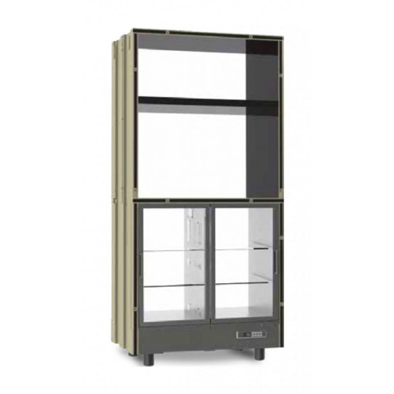 Modul frigorific incastrabil Ip Industrie Parete PM-GAR20, pentru specialitati gastronomice, 424W, temperatura +4°C° / +10°C