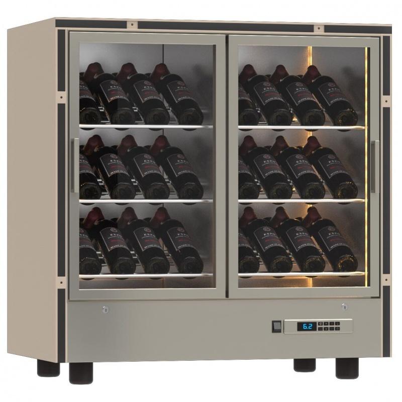 Modul frigorific incastrabil Ip Industrie Parete PM-VDR22, pentru vinuri, capacitate sticle 42, temperatura +6°C° / +18°C