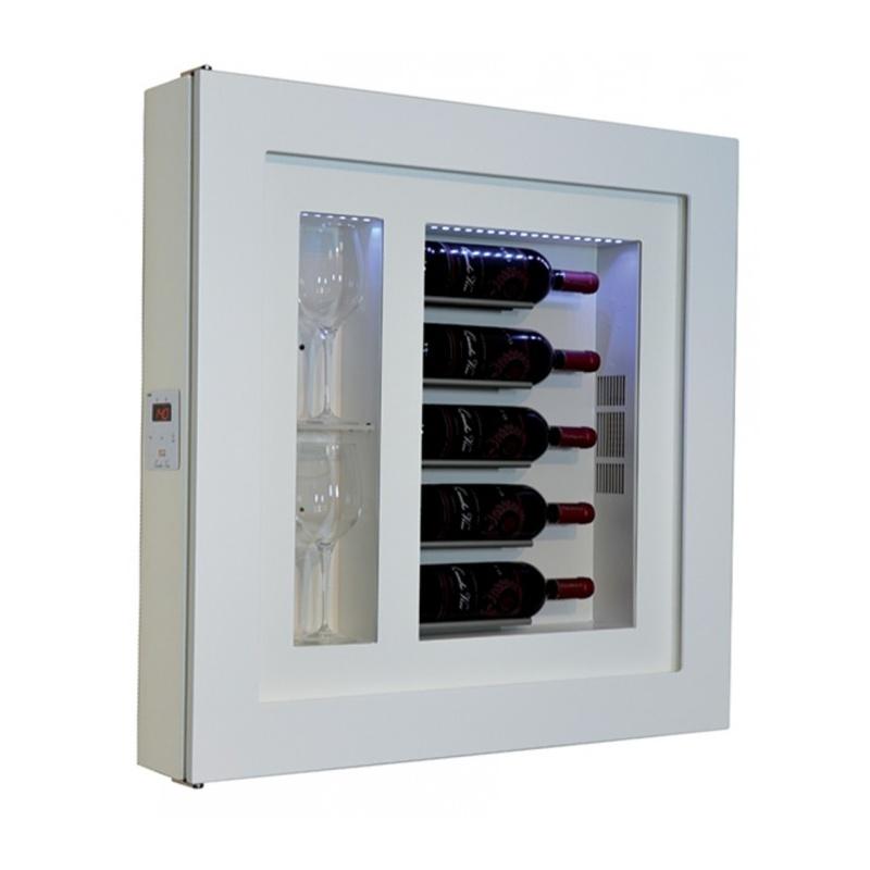 Vitrina frigorifica tablou pentru vinuri Ip Industrie QV52-B1050B/U, capacitate sticle 5, temperatura +12/ +20°C, alb