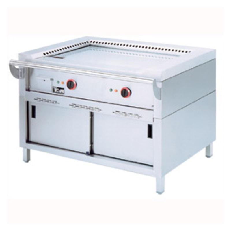 Gratar electric Teppanyaki Diamond TPE2-12 cu 2 suprafete de gatit si suport inchis