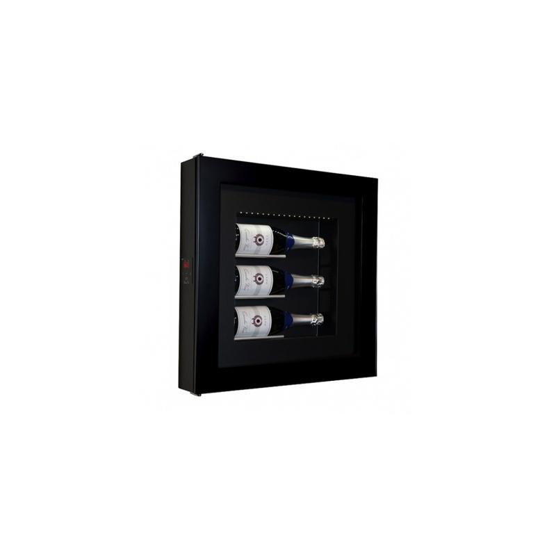 Vitrina frigorifica tablou pentru vinuri Ip Industrie QV30-N1151, capacitate 3 sticle, temperatura +6/ +20°C, negru