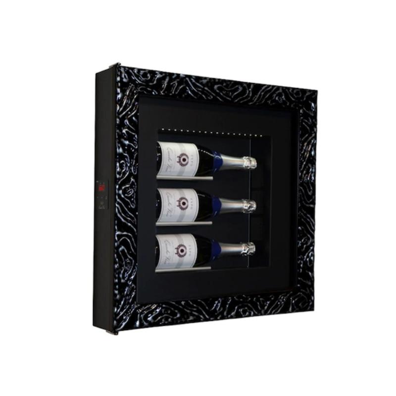 Vitrina frigorifica tablou pentru vinuri Ip Industrie QV30-N4351, capacitate 3 sticle, temperatura +6/ +20°C, negru