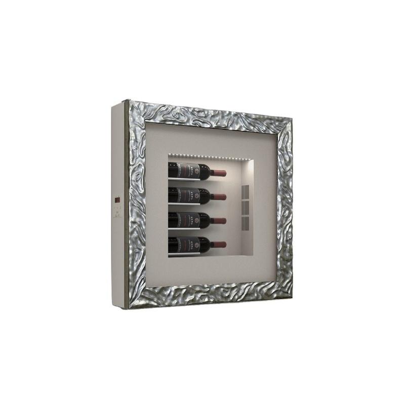 Vitrina frigorifica tablou pentru vinuri Ip Industrie QV40-B4250, capacitate 4 sticle, temperatura +6/ +20°C, alb/argintiu