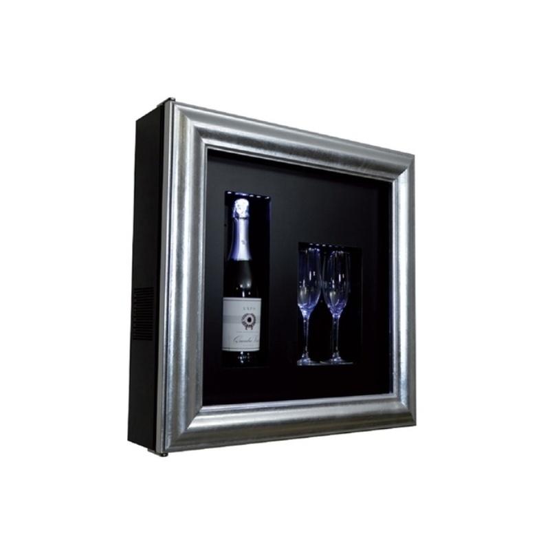 Vitrina frigorifica tablou pentru vinuri Ip Industrie QV12-N3051, capacitate 1 sticla, temperatura +4/ +10°C, negru/argintiu