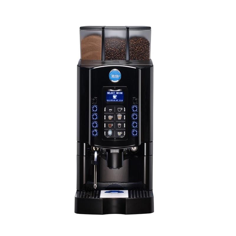 Automat de cafea Carimali Armonia Soft LM.4 display 3K 2 rasnite racord apa direct la retea negru mat
