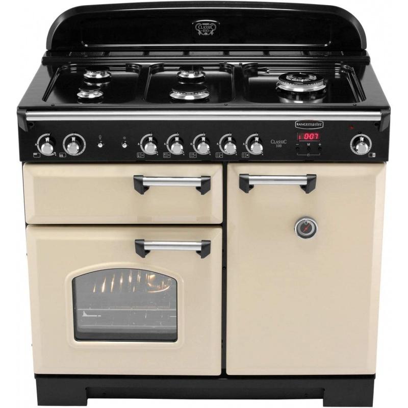 Aragaz pe gaz Rangemaster Professional Plus 110 cu 5 arzatoare si un arzator wok