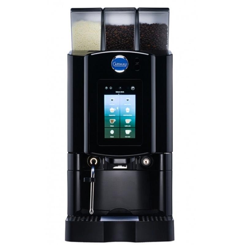 Automat de cafea Carimali Armonia Soft Plus LM.3 display 7k, 1 rasnita racord apa direct la retea negru mat