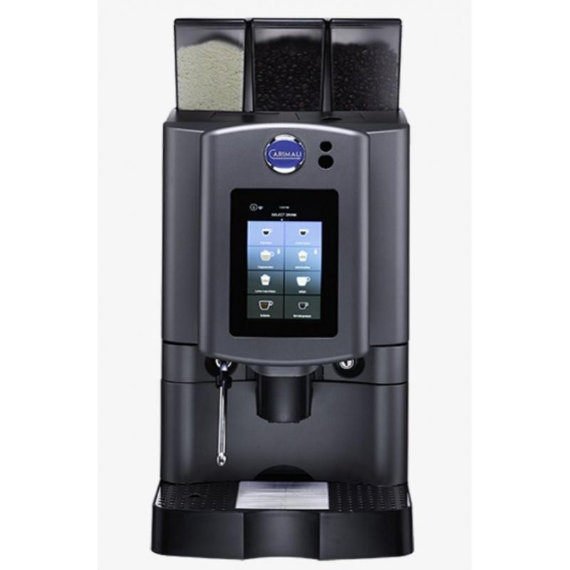 Automat de cafea Carimali Armonia Soft Plus LM.3 display 7k, 1 rasnita racord apa direct la retea gri mat