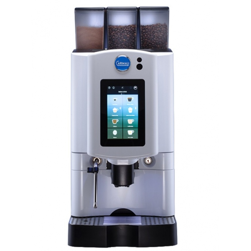 Automat de cafea Carimali Armonia Soft Plus LM.4 display 7k, 2 rasnite racord apa direct la retea alb