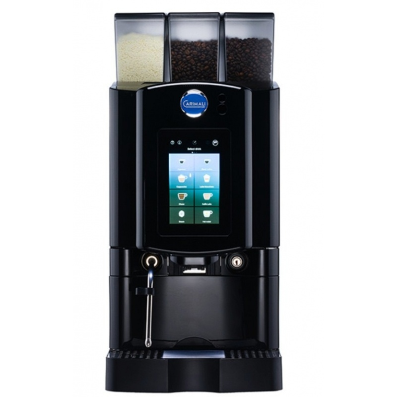 Automat de cafea Carimali Armonia Soft Plus LM.4 display 7k, 2 rasnite racord apa direct la retea negru mat