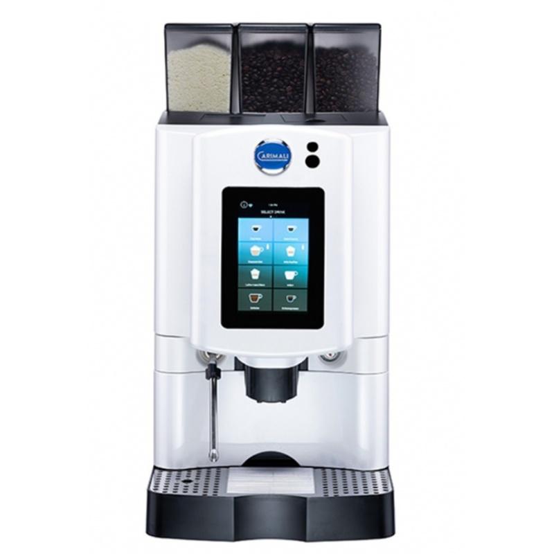 Automat de cafea Carimali Armonia Soft Plus LM.4 display 7k, 2 rasnite racord apa direct la retea alb perlat