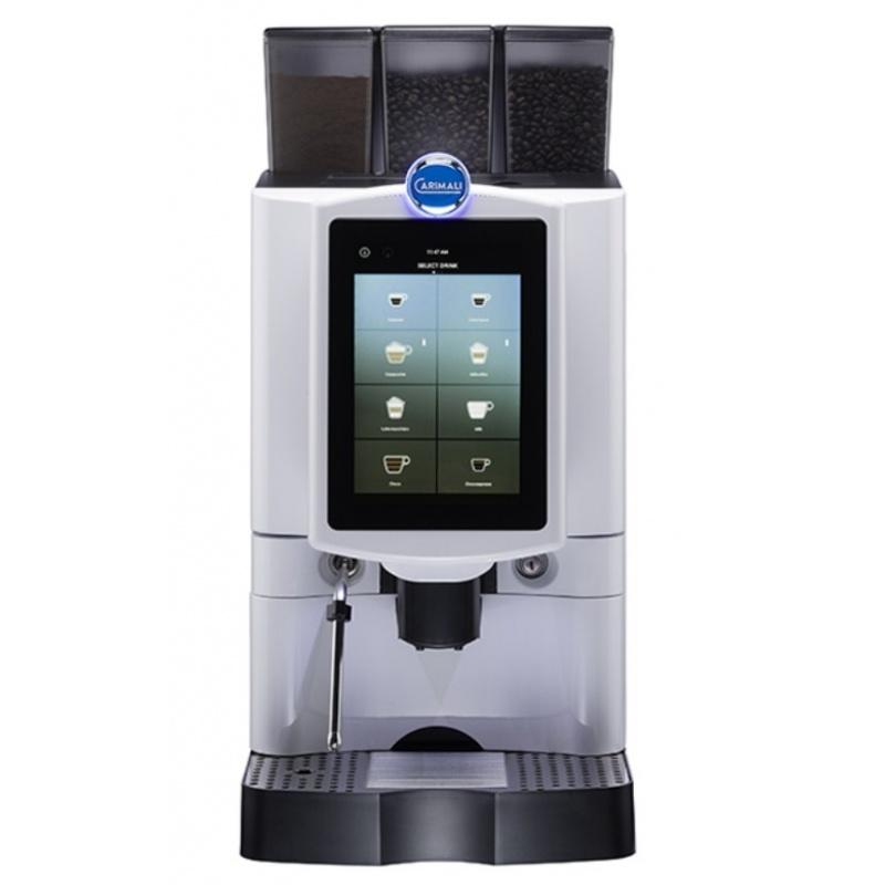 Automat de cafea Carimali Armonia Ultra Easy.2 display 10k ecran tactil, 1 rasnita racord apa direct la retea alb