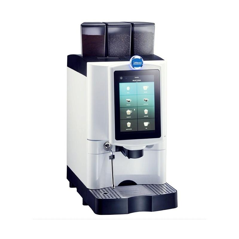 Automat de cafea Carimali Armonia Ultra LM.1 display 10k ecran tactil 1 rasnita racord apa direct la retea alb perlat