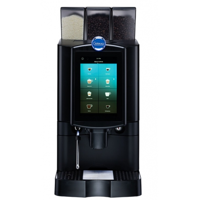 Automat de cafea Carimali Armonia Ultra LM.8 display 10k ecran tactil 1 rasnita racord apa direct la retea negru mat