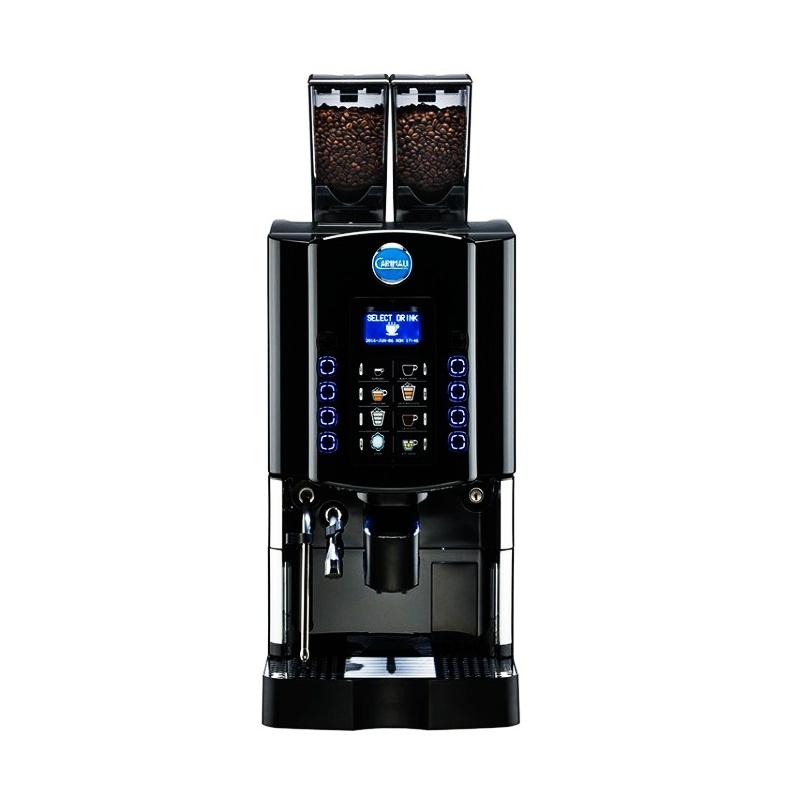 Automat de cafea Carimali Optima Soft LM.2 display 3K 2 rasnite racord apa direct la retea negru mat