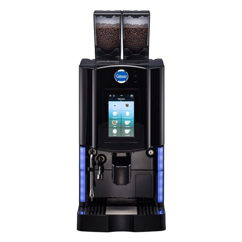 Automat de cafea Carimali Optima Soft Plus LM.1 display 7K ecran tactil 1 rasnita racord apa direct la retea negru mat