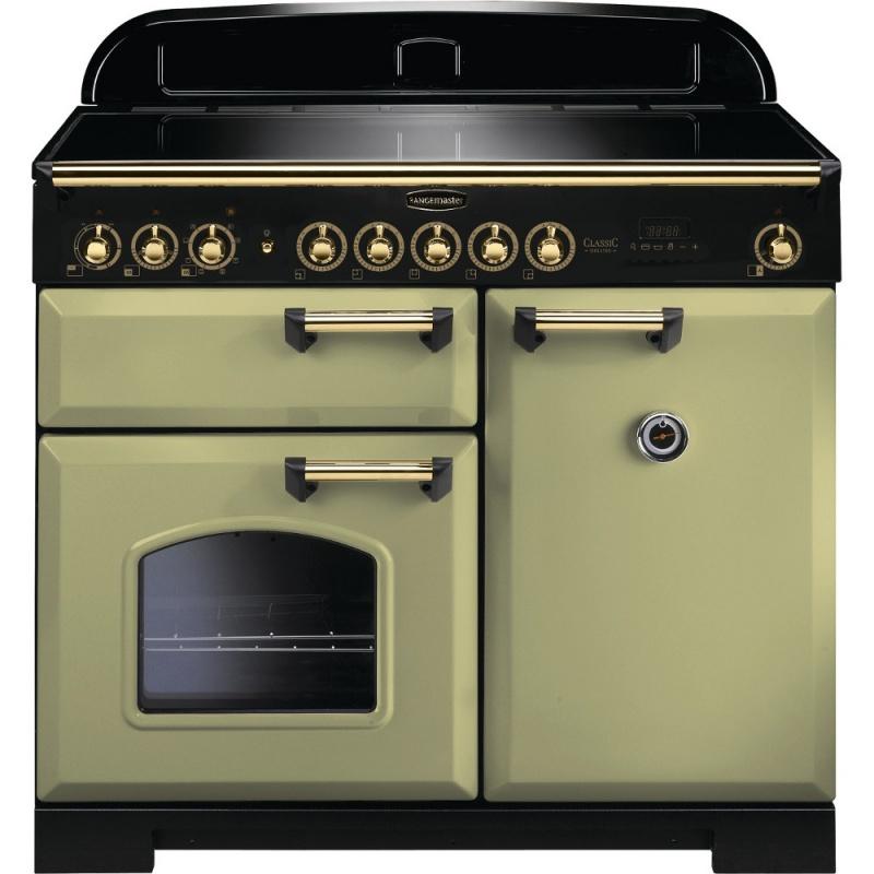 Aragaz pe gaz Rangemaster Classic Deluxe 100 cu 5 arzatoare si un arzator wok