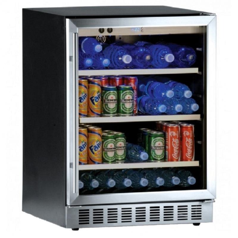 Vitrina frigorifica bauturi Ipindustrie BC45AX, capacitate sticle 45, temperatura +2°C / +10°C, negru/argintiu