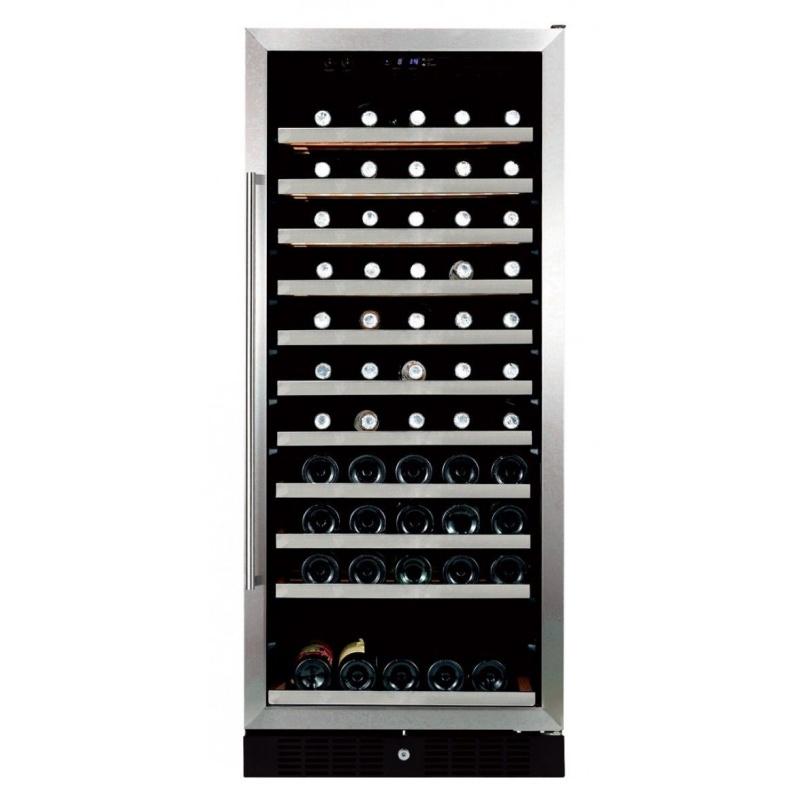 Vitrina frigorifica vinuri Ipindustrie Sku3 pentru 110 sticle, temperatura +5/+18°C, inox