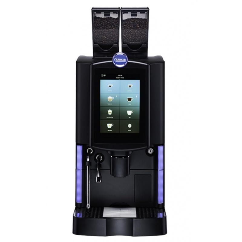 Automat de cafea Carimali Optima Ultra LM.1 display 10K ecran tactil 1 rasnita racord apa direct la retea negru mat