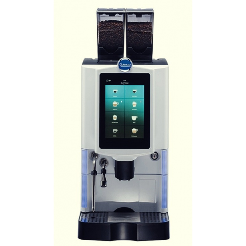 Automat de cafea Carimali Optima Ultra LM.1 display 10K ecran tactil 1 rasnita racord apa direct la retea gri mat