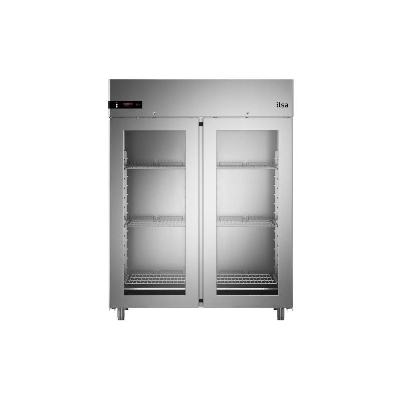 Vitrina frigorifica ILsa Neos AN14V2510 capacitate 1400 l cu 2 usi, temperatura -20° -10°C, inox
