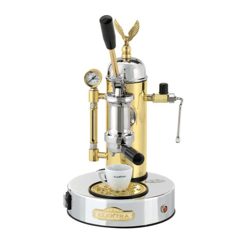 Espressoare de cafea Elektra Micro Casa a Leva S1CO cu manetă si pârghie 10kg crom si alamă