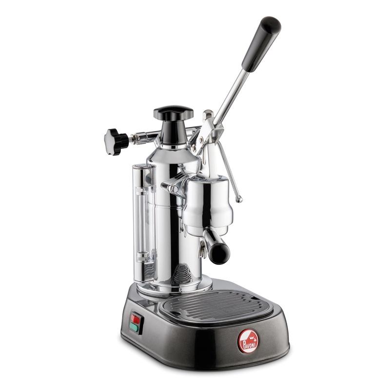 Espressoare de cafea La Pavoni Europiccola EN cu pârghie 120V argintiu cu baza neagra