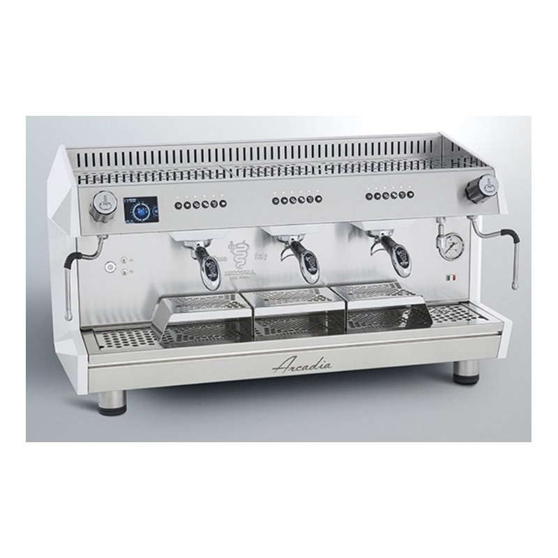 Espressor de Cafea Profesional Bezzera Arcadia PID 3 grupuri alb