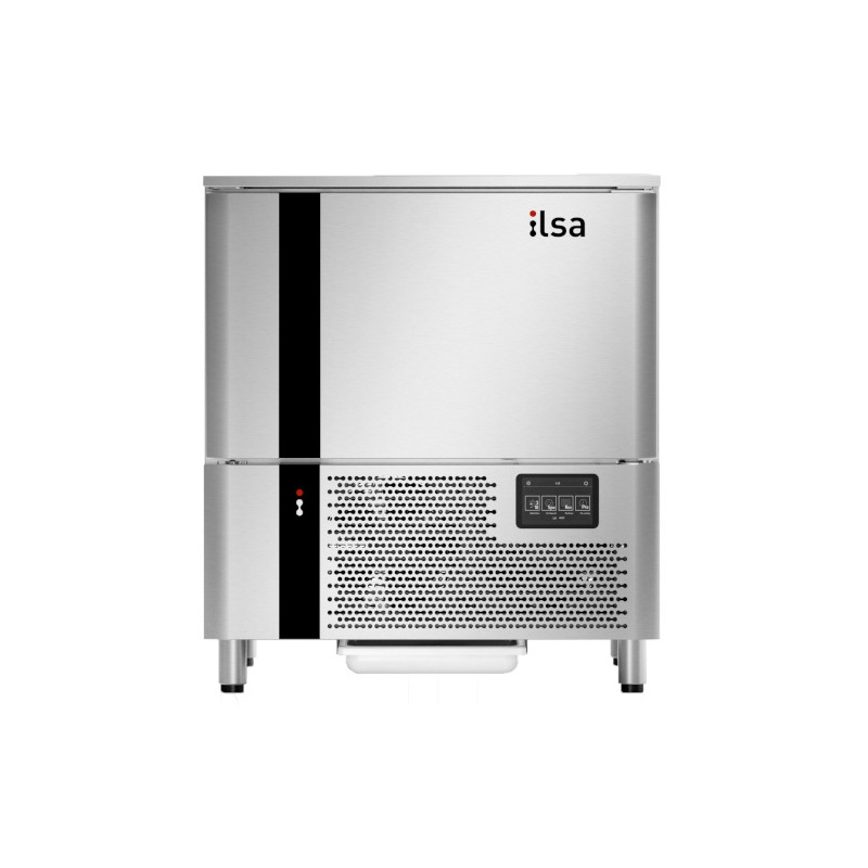 Abatitor Blast Chiller ILsa AB05E5030 pentru gelaterie, condensare cu aer, 6 cuve, temperatura +90°/-18°C, inox