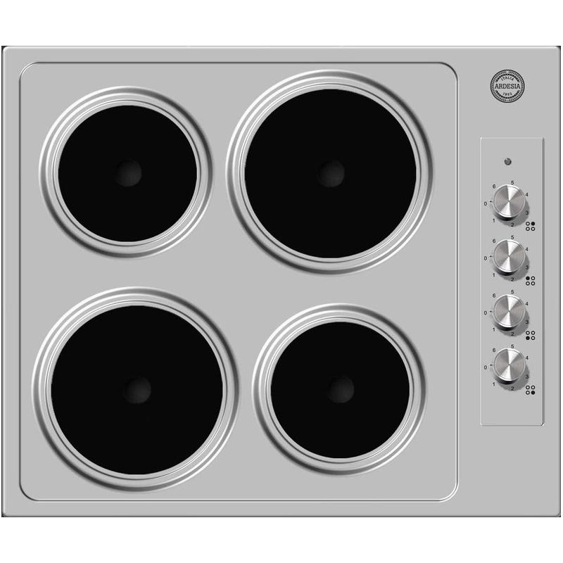 Plita electrica Ardesia MA 04 BEABXS cu 4 arzatoare, inox