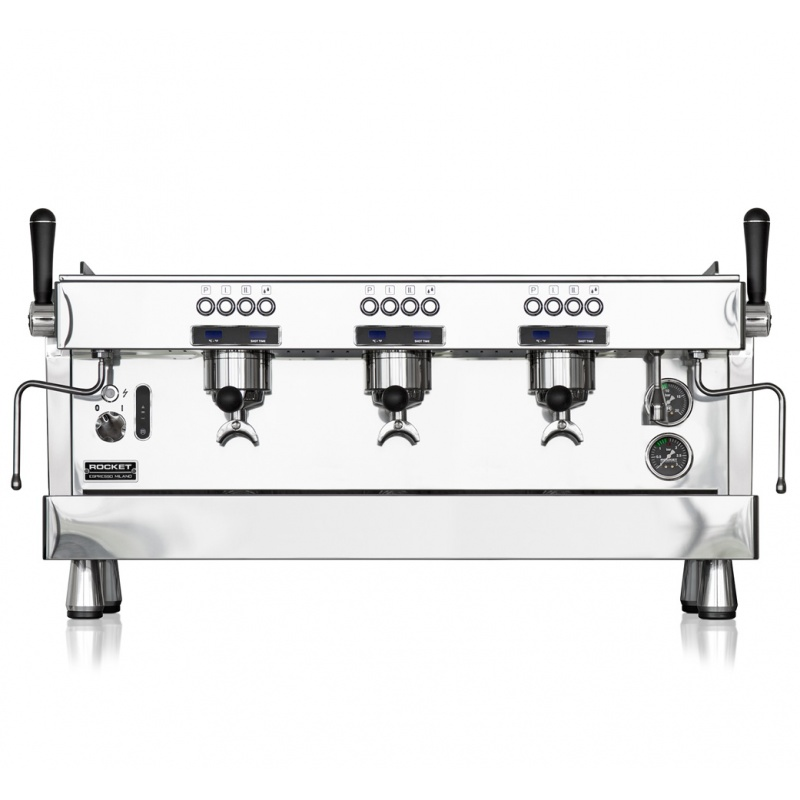 Espressor de Cafea comercial Rocket R 9 3 grupuri argintiu
