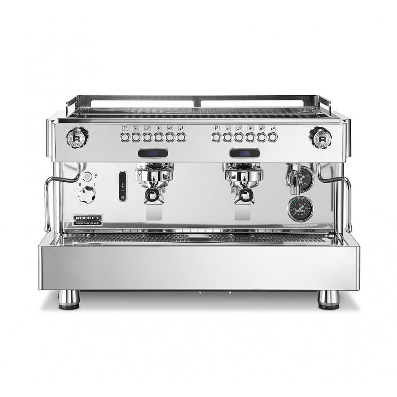 Espressor de Cafea comercial Rocket RE A Timer 2 grupuri argintiu