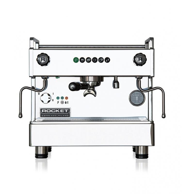 Espressor de Cafea comercial Rocket Boxer 1 cu temporizator grup argintiu