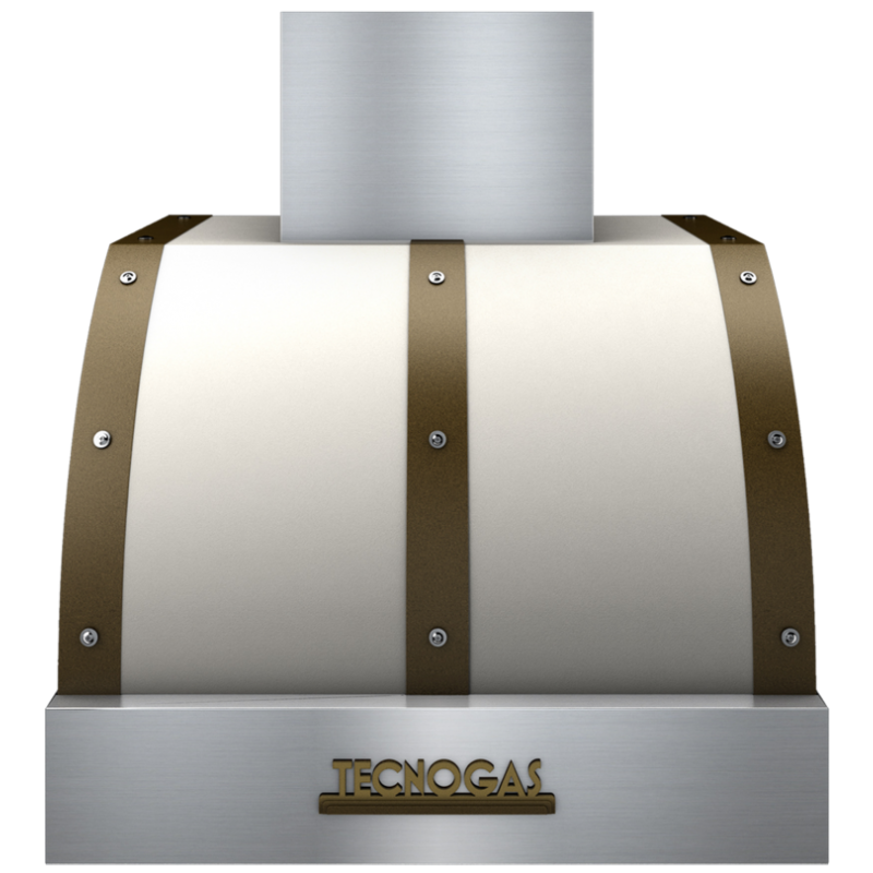 Hota de perete Tecnogas DECO CD260CB ,1 motor, 850 m3 / h, crem mat cu finisaj alama