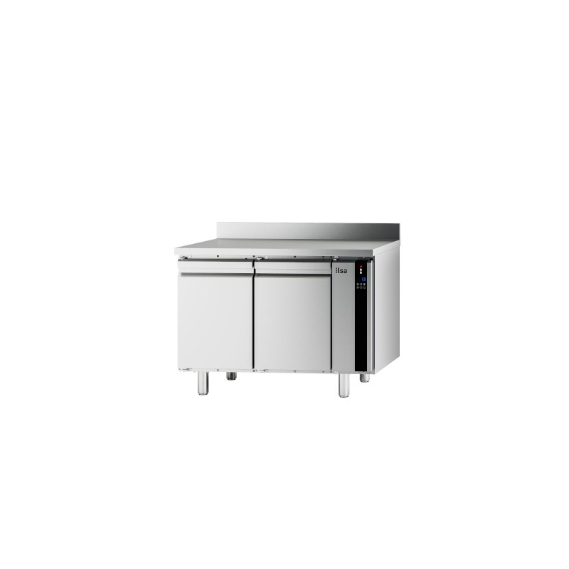 Masa rece ILsa Evolve T9PG2V4550 cu rebord, 2 usi, capacitate 243 l, temperatura -20°-10°C, inox