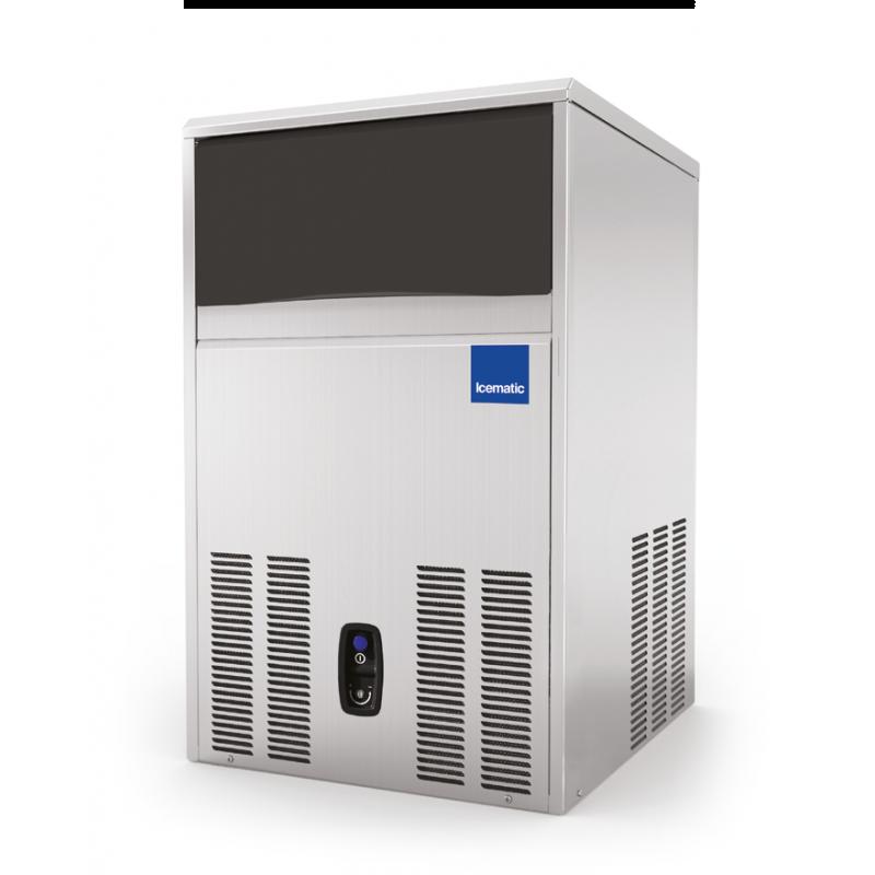 Aparat de facut gheata Icematic CS 50 W, cuburi patrate 37 mm, condensare cu apa, capacitate stocare 22kg, inox