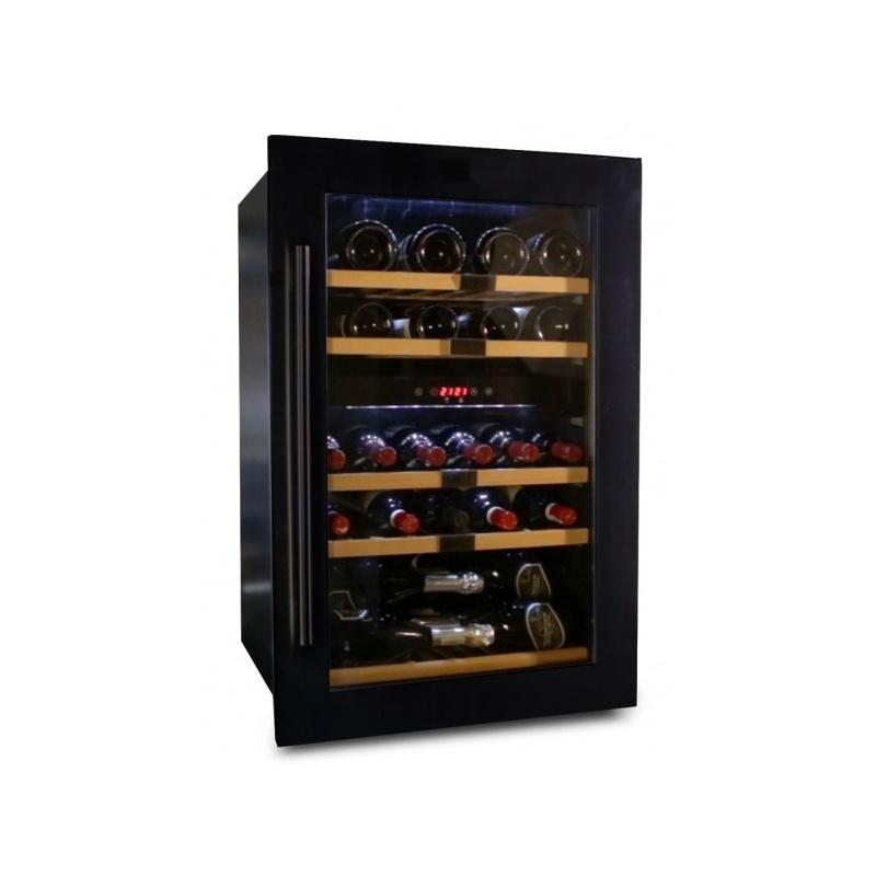 Vitrina de vinuri Datron capacitate 35 sticle incorporat 2 zone C° negru