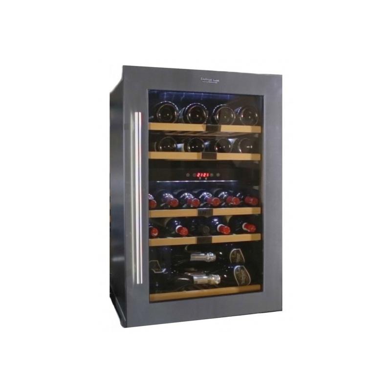 Vitrina de vinuri Datron capacitate 35 sticle incorporat 2 zone C° argintiu