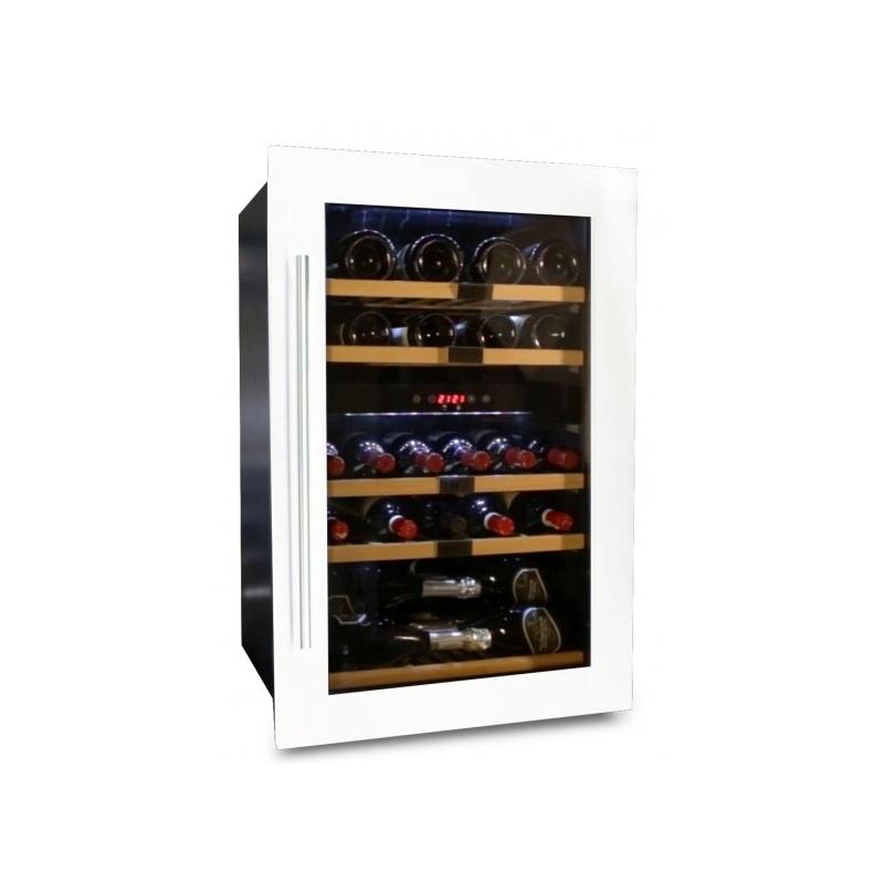 Vitrina de vinuri Datron capacitate 35 sticle incorporat 2 zone C° alb