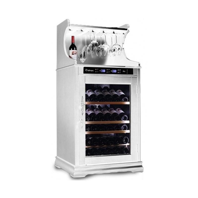 Vitrina de vinuri Datron capacitate 46-62 sticle cu rafturi pentru agățarea paharelor de vin alb